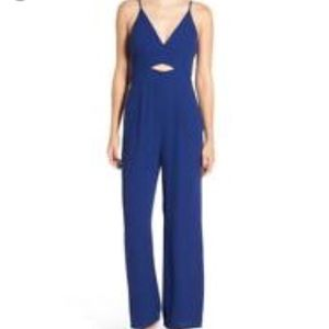 Leith Royal Blue V-Neck jumpsuit with cutout